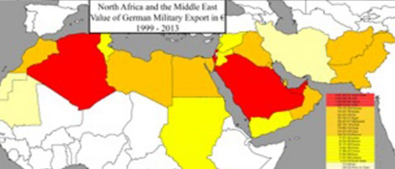 German Arms Transfer to North Africa and the Middle East from 1999 to 2013