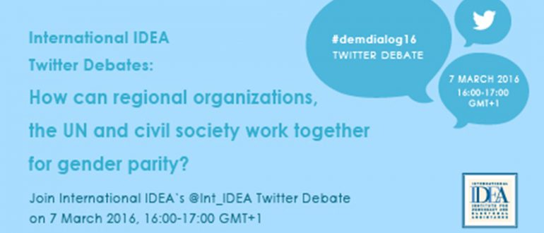Twitter chat: Share your thoughts on gender policies of regional organizations